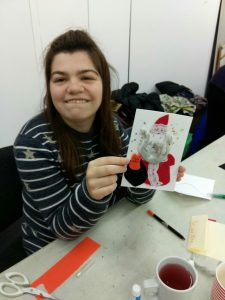 Christmas card making