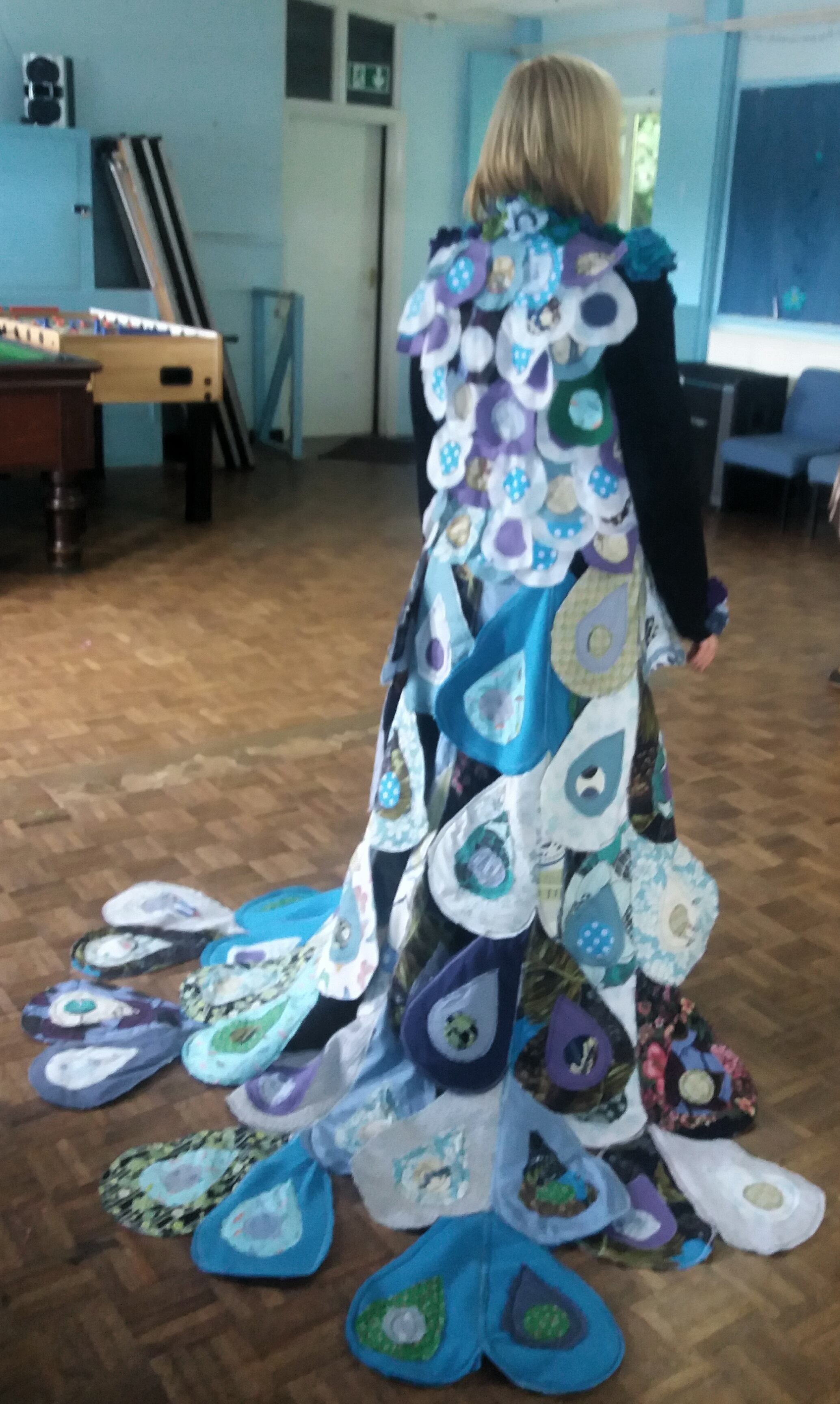 west teignmouth craft club peacock coat full length